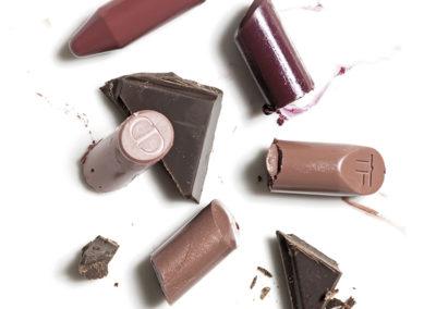 17 Chocolate and lipsticks